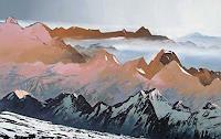 Valeriy-Grachov-Landschaft-Berge-Natur-Gestein-Gegenwartskunst-Gegenwartskunst