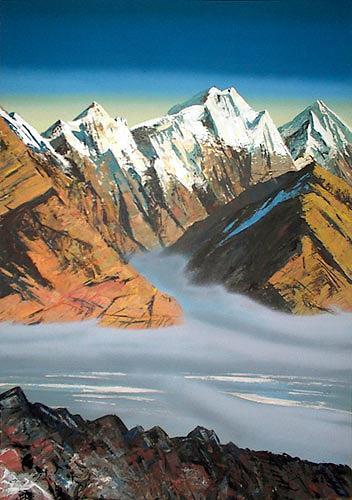 Valeriy Grachov, Pamirs 088, Landschaft: Berge, Diverse Landschaften, Gegenwartskunst