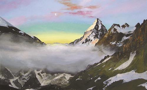 Valeriy Grachov, Pamirs 024, Landschaft: Berge, Natur: Gestein, Gegenwartskunst, Expressionismus