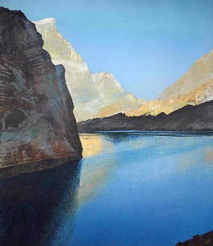 Valeriy Grachov, Fann Berge. Ein großer See Alo., Landschaft: Berge, Diverse Landschaften, Realismus, Expressionismus
