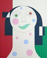 Hildegarde-Handsaeme-Dekoratives-Menschen-Gesichter-Gegenwartskunst--Gegenwartskunst-