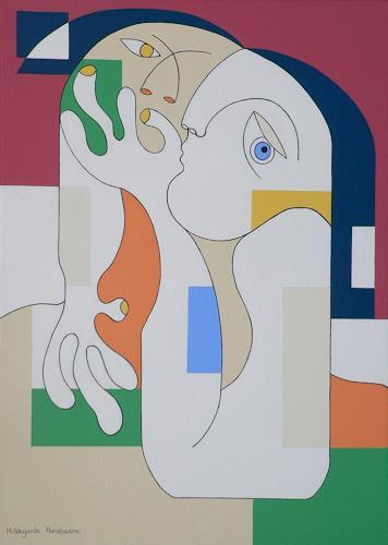 Hildegarde Handsaeme, ANONYMUS, Menschen: Paare, Gefühle: Liebe, Konstruktivismus, Expressionismus