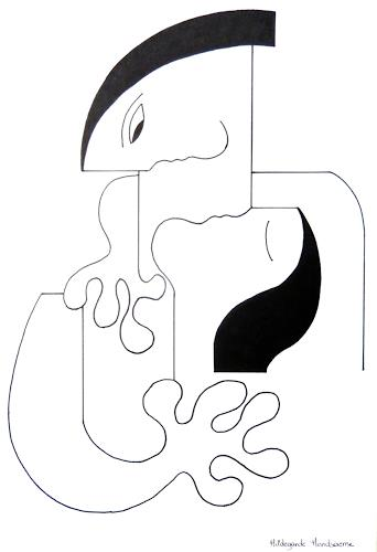 Hildegarde Handsaeme, L'Amour Fou, Menschen: Paare, Abstraktes, Konstruktivismus