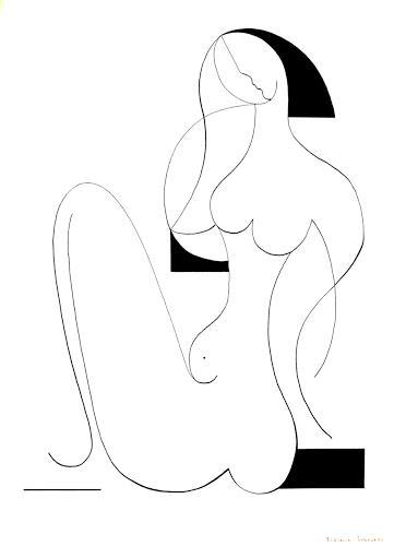 Hildegarde Handsaeme, Femme Fatale, Akt/Erotik: Akt Frau, Menschen: Frau, Konstruktivismus, Expressionismus
