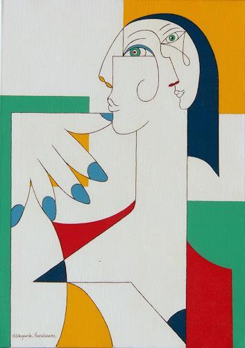 Hildegarde Handsaeme, 5 FINGERS, Menschen: Gesichter, Dekoratives, Konstruktivismus, Expressionismus