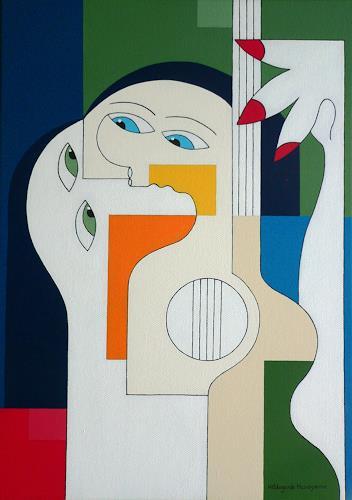 Hildegarde Handsaeme, Intimately with music, Gefühle: Liebe, Musik: Instrument, Konstruktivismus, Expressionismus