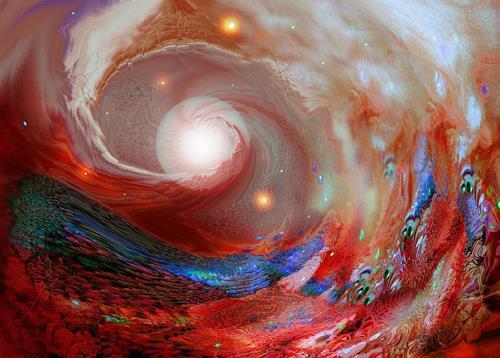 Natalia Rudsina, Space 2, Fantasie, Abstraktes, Expressionismus