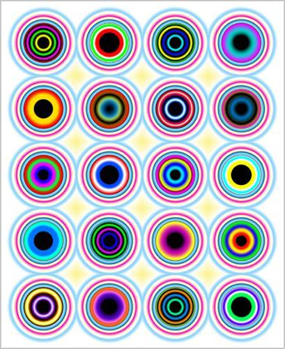 James Marsh, Concentric, Abstraktes, Abstraktes, Abstrakte Kunst, Abstrakter Expressionismus