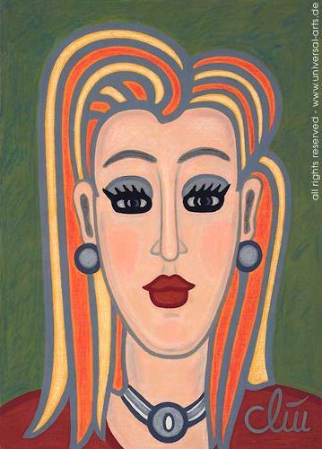 universal arts Jacqueline Ditt Mario Strack Kunst Menschen: Frau Menschen: Porträt Moderne Expressionismus - universal-arts-Jacqueline-Ditt---Mario-Strack-Menschen-Frau-Menschen-Portraet