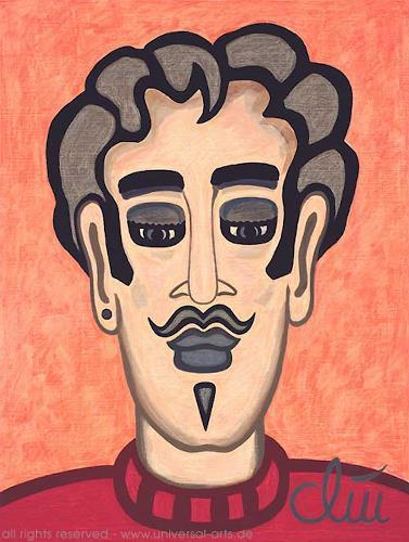 universal arts Jacqueline Ditt Mario Strack Kunst Menschen: Gesichter Menschen: Mann Moderne Expressionismus - universal-arts-Jacqueline-Ditt---Mario-Strack-Menschen-Gesichter-Menschen-Mann