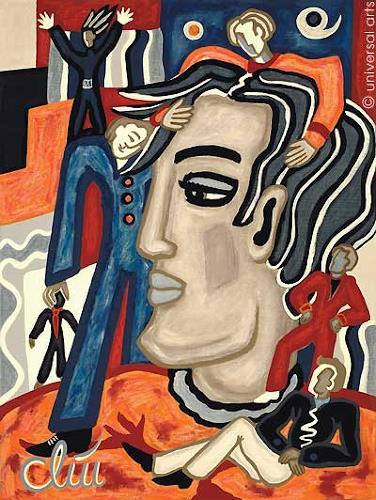 universal arts Jacqueline Ditt & Mario Strack, Multiple Personality von Jaqueline Ditt, Menschen: Porträt, Menschen: Mann, Expressionismus