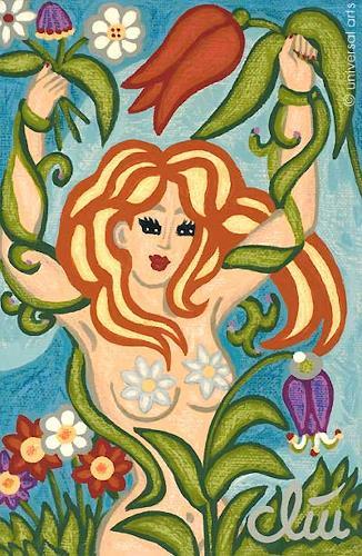 universal arts Jacqueline Ditt & Mario Strack, Tempting Goddess of Spring, Akt/Erotik: Akt Frau, Mythologie, Expressionismus