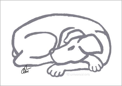 universal arts Jacqueline Ditt & Mario Strack, Dog -Grey, Diverse Tiere, Tiere: Land, Pop-Art