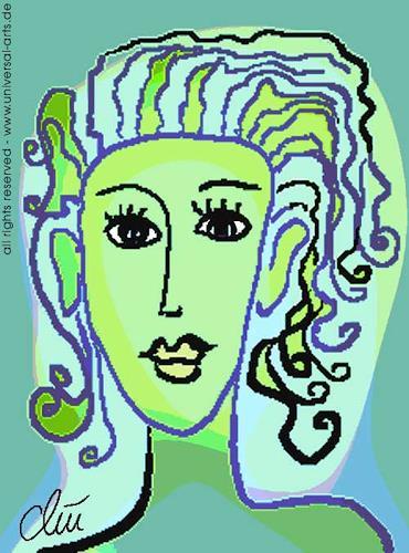 universal arts Jacqueline Ditt & Mario Strack, Die Hoffnung von Jacqueline Ditt, Menschen: Porträt, Menschen: Frau, Expressionismus