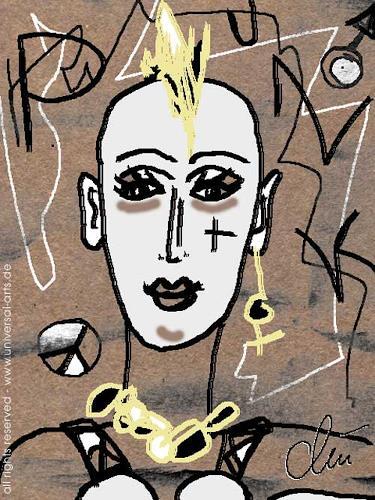 universal arts Jacqueline Ditt & Mario Strack, Nasty Punklady von Jacqueline Ditt, Menschen: Gesichter, Menschen: Porträt, Expressionismus