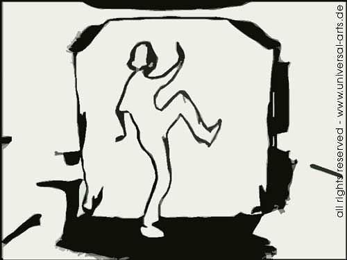 universal arts Jacqueline Ditt & Mario Strack, E-Motion 1 von Mario Strack, Menschen: Mann, Bewegung, Minimal Art