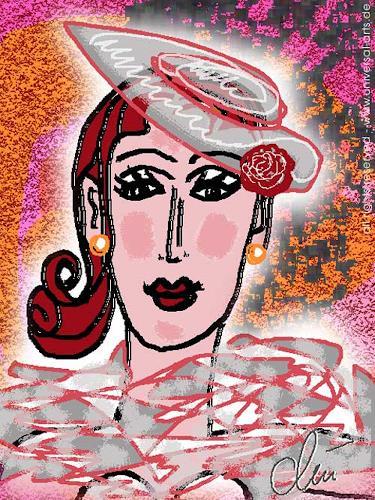 universal arts Jacqueline Ditt & Mario Strack, Romantic Lady von Jacqueline Ditt, Menschen: Porträt, Menschen: Frau, Expressionismus