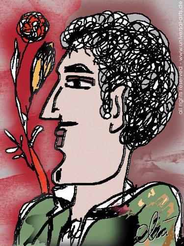 universal arts Jacqueline Ditt & Mario Strack, Soulful Gigolo von Jacqueline Ditt, Menschen: Porträt, Menschen: Mann, Expressionismus