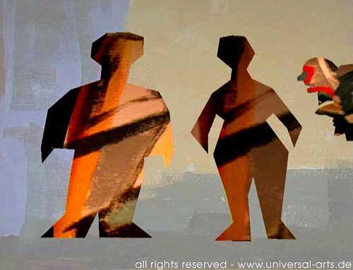 universal arts Jacqueline Ditt & Mario Strack, Society 3 von Mario Strack, Menschen: Paare, Menschen: Gruppe, Minimal Art