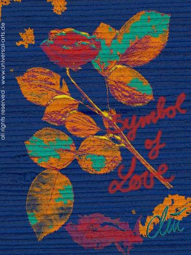 universal arts Jacqueline Ditt & Mario Strack, Symbol of Love von Jacqueline Ditt, Symbol, Diverse Romantik, Expressionismus