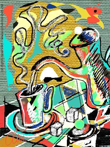 universal arts Jacqueline Ditt & Mario Strack, Coffeebreak von Jacqueline Ditt, Stilleben, Essen, Expressionismus