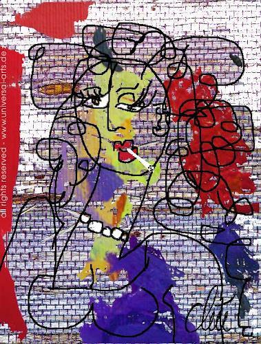 universal arts Jacqueline Ditt & Mario Strack, Verwegen von Jacqueline Ditt, Menschen: Porträt, Menschen: Frau, Expressionismus, Abstrakter Expressionismus