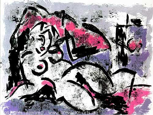 universal arts Jacqueline Ditt & Mario Strack, Die Verführung von Jacqueline Ditt, Akt/Erotik: Akt Frau, Diverse Erotik, Expressionismus, Abstrakter Expressionismus