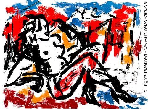 universal arts Jacqueline Ditt & Mario Strack, Die Sünde von Jacqueline Ditt, Akt/Erotik: Akt Frau, Diverse Erotik, Expressionismus