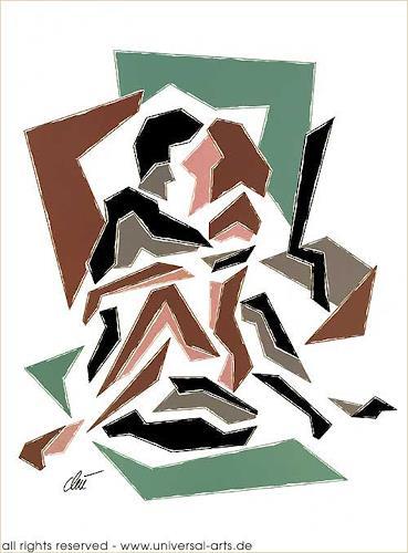 universal arts Jacqueline Ditt & Mario Strack, Position 2 von Jacqueline Ditt, Abstraktes, Diverse Erotik, Gegenwartskunst