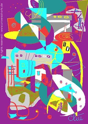 universal arts Jacqueline Ditt & Mario Strack, Citylife von Jacqueline Ditt, Abstraktes, Diverse Bauten, Expressionismus