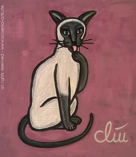 universal arts Jacqueline Ditt & Mario Strack, Die gepflegte Katze von Jacqueline Ditt, Tiere: Land, Diverse Tiere, Expressionismus