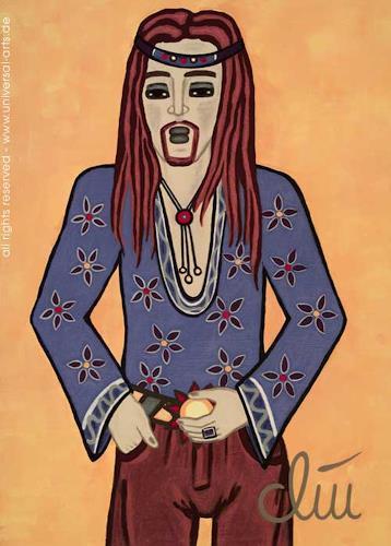 universal arts Jacqueline Ditt & Mario Strack, Hippie von Jacqueline Ditt, Menschen: Mann, Fashion, Expressionismus