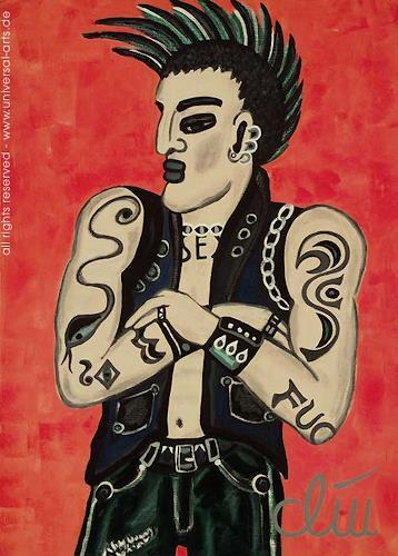 universal arts Jacqueline Ditt & Mario Strack, Punk von Jacqueline Ditt, Fashion, Menschen: Mann, Expressionismus