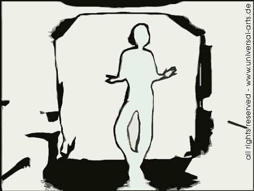 universal arts Jacqueline Ditt & Mario Strack, E-Motion 3 von Mario Strack, Menschen: Mann, Bewegung, Minimal Art