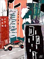 u. Jacqueline Ditt & Mario Strack, Stadt in Morgengrauen von Jacqueline Ditt