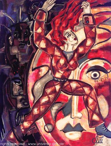 universal arts Jacqueline Ditt & Mario Strack, Escape from Darkness von Jacqueline Ditt, Bewegung, Diverse Gefühle, Expressionismus