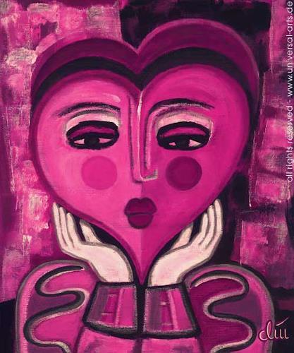 universal arts Jacqueline Ditt & Mario Strack, Waiting for Love von Jacqueline Ditt, Gefühle: Liebe, Menschen: Porträt, Expressionismus