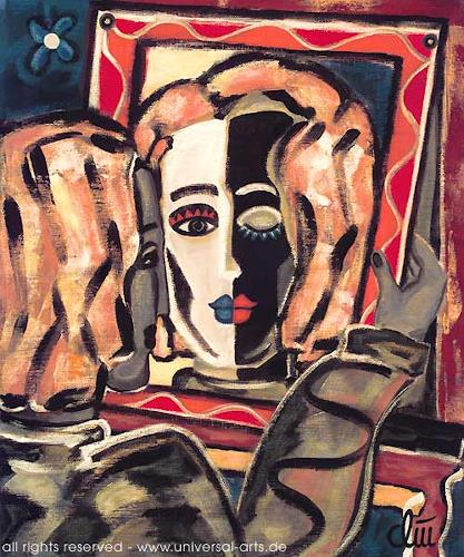 universal arts Jacqueline Ditt & Mario Strack, Mirrorimage von Jacqueline Ditt, Menschen: Porträt, Symbol, Expressionismus