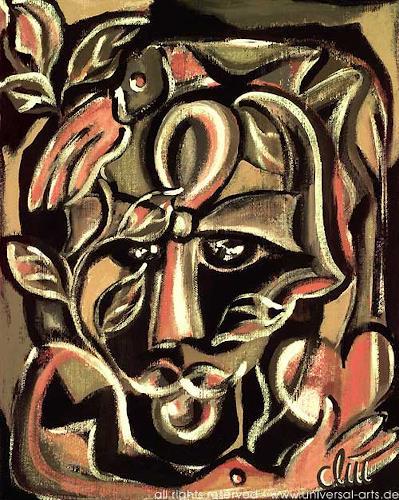 universal arts Jacqueline Ditt & Mario Strack, Anch - Die Erneuerung von Jacqueline Ditt, Symbol, Menschen: Gesichter, Expressionismus