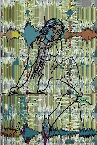 universal arts Jacqueline Ditt & Mario Strack, Soundwave - My Song von Jacqueline Ditt, Diverse Musik, Menschen: Frau, Expressionismus
