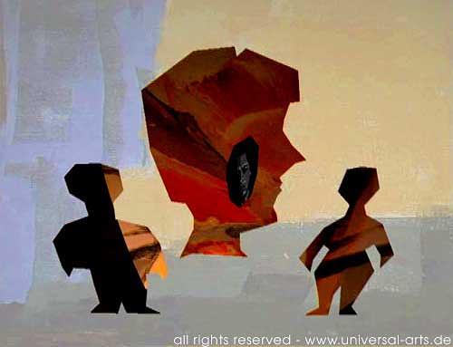 universal arts Jacqueline Ditt & Mario Strack, Society 4 von Mario Strack, Menschen: Gruppe, Diverse Menschen, Minimal Art
