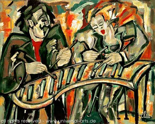 universal arts Jacqueline Ditt & Mario Strack, Marimba von Jacqueline Ditt, Musik: Instrument, Musik: Musiker, Expressionismus
