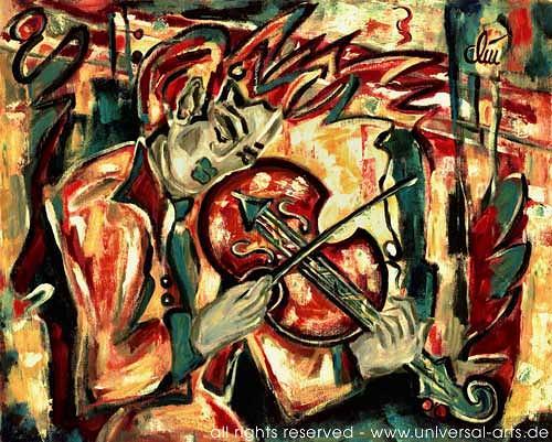 universal arts Jacqueline Ditt & Mario Strack, Violin von Jacqueline Ditt, Musik: Instrument, Musik: Musiker, Expressionismus