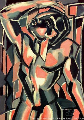 universal arts Jacqueline Ditt & Mario Strack, Mannsbild von Jacqueline Ditt, Akt/Erotik: Akt Mann, Diverse Erotik, Expressionismus