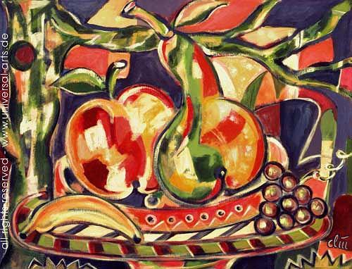 universal arts Jacqueline Ditt & Mario Strack, Obst von Jacqueline Ditt, Stilleben, Ernte, Expressionismus