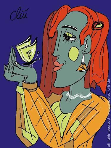 universal arts Jacqueline Ditt & Mario Strack, The Return von Jacqzueline Ditt, Tiere: Luft, Menschen: Frau, Expressionismus