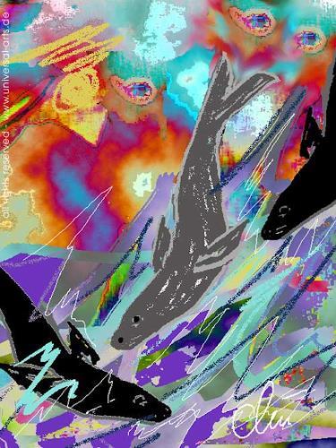 universal arts Jacqueline Ditt & Mario Strack, Wellenritt von Jacqueline Ditt, Tiere: Wasser, Tiere: Land, Expressionismus