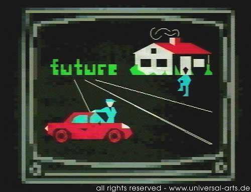 universal arts Jacqueline Ditt & Mario Strack, Matrix von Mario Strack, Bauten: Haus, Verkehr: Auto, Expressionismus