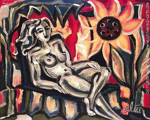 universal arts Jacqueline Ditt & Mario Strack, Relax von Jacqueline Ditt, Akt/Erotik: Akt Frau, Diverse Erotik, Expressionismus