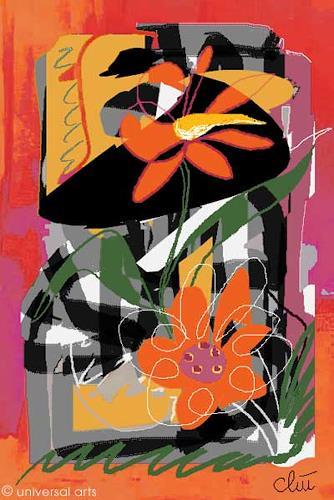 universal arts Jacqueline Ditt & Mario Strack, Flowers von Jacqueline Ditt, Stilleben, Pflanzen: Blumen, Expressionismus